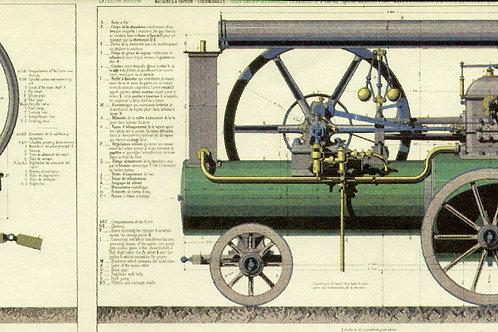 Carta con Locomotiva 50x70cm (cod.1183)