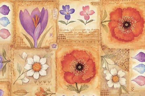 Carta Fiori RossoViola 50x70cm (cod. 1526)
