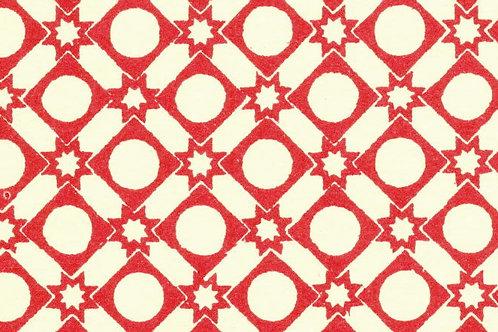 Carta Varese Disegni Geometrici Rosso 50x70cm (cod. 0180)