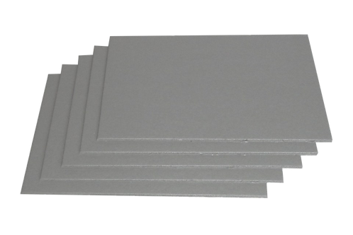 10 pezzi Cartone Grigio formato 50x70cm (diversi spessori)