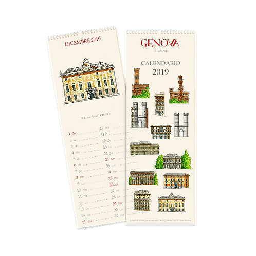 Calendario Palazzi di Genova 2019