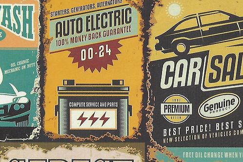 Carta con Cartelli Automobili 50x70cm (cod.2183)