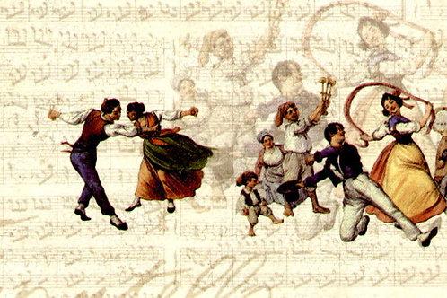 Carta con Ballerini 50x70cm (cod.6094)