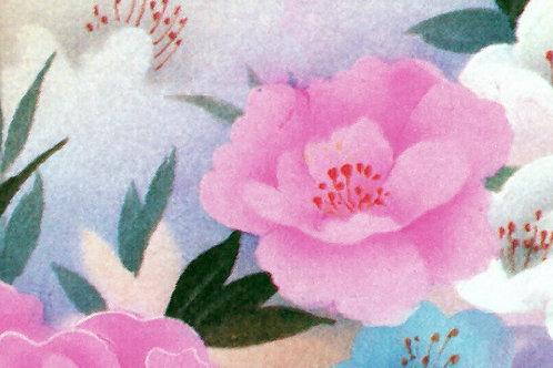 Carta Fiori Rosa Bianco Fondo Azzurro 50x70cm (cod. 0235)