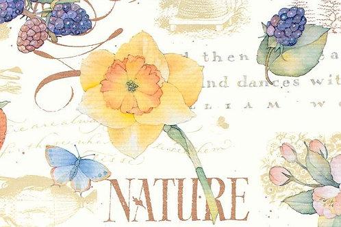 "Carta Fiori e Frutta ""Nature"" 50x70cm (cod. 5800)"