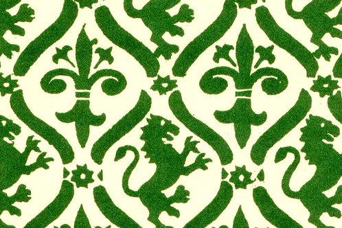 Carta Giglio e Leone Verde 50x70cm (cod. 0022)
