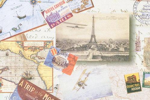 Carta Viaggi Parigi Cartiline 50x70cm (cod.6308)