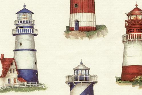 Carta Viaggi Faro Rosso e Blu 50x70cm (cod.1152)