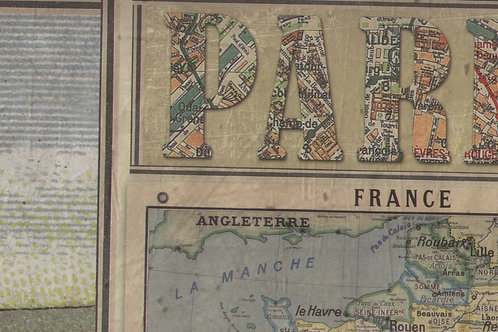 Carta Viaggi Paris France 50x70cm (cod. 2097)