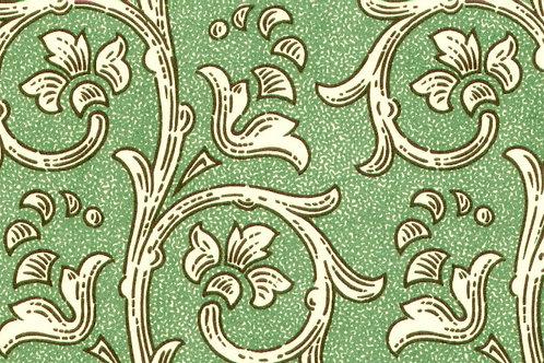 Carta Varese Fiorata Verde 50x70cm (cod. 0813)