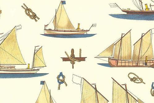 Carta con Velieri 50x70cm (cod. 1717)
