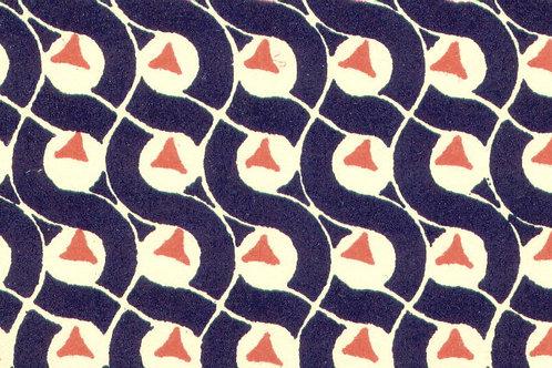 Carta Varese Disegni Geometrici Blu 50x70cm (cod. 0137)