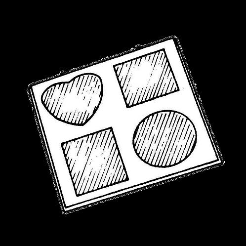Pannello Portafoto a 4 foto (24x24cm) da rivestire