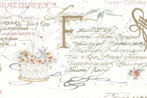 Carta con Scritte Auguri 50x70cm (cod.5665)