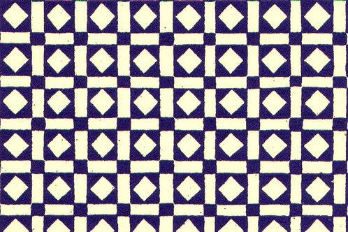 Carta Varese Disegni Geometrici Blu 50x70cm (cod. 0080)
