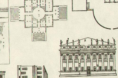 Carta con Piantina Palazzo 50x70cm (cod.5645)