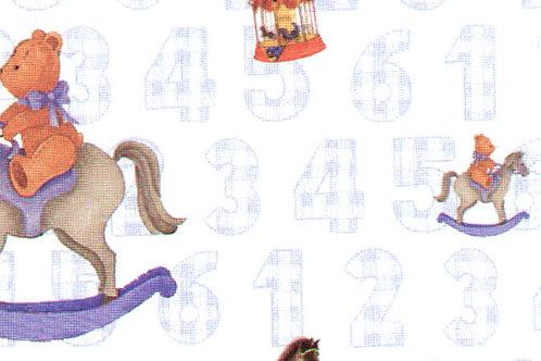 Carta con Orsetti Azzurri 50x70cm (cod. 6020)