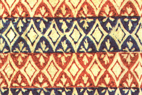 Carta Varese Disegni Geometrici Blu e Rosso 50x70cm (cod. 6712)