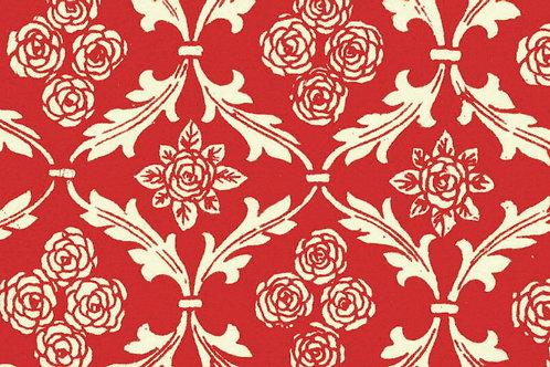 Carta Varese Fiorata Rosso 50x70cm (cod. 0066)