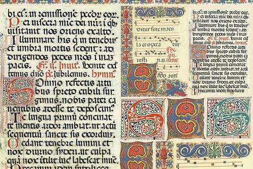 Carta con Scritte Antiche 50x70cm (cod.7139)