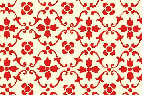 Carta Varese Fiorita Rosso 70x100cm (cod. 058)