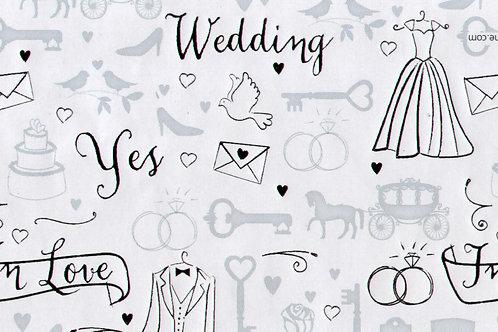Carta per Matrimonio in Argento 50x70cm (cod. 2131)