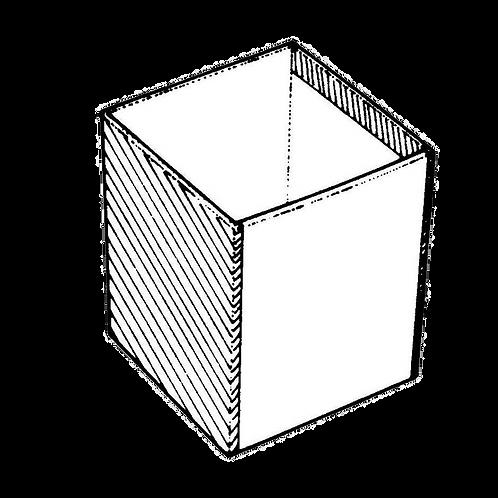 Portamatite quadrato (8x8x10h) da rivestire