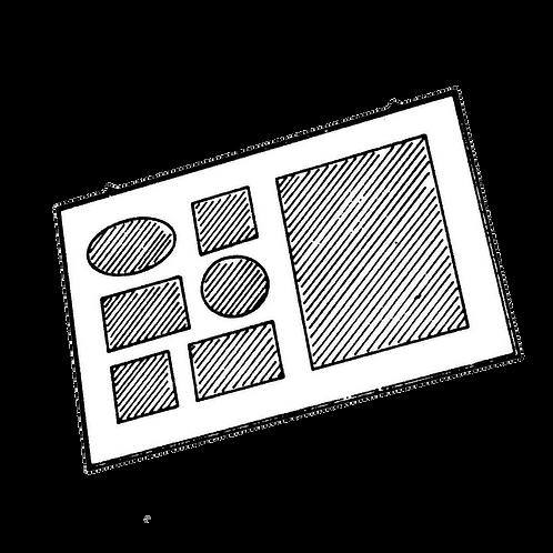 Pannello Portafoto a 7 foto (24x34cm) da rivestire