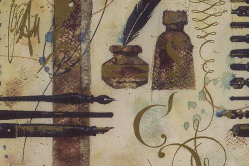 Carta con Penna e Calamaio 50x70cm (cod.2050)