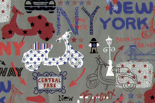 Carta con Vespa New York 50x70cm (cod.5199)