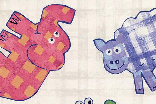 Carta con Animali di Pezza 50x70cm (cod.1290)