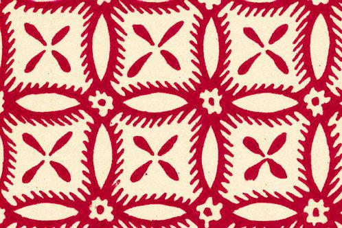 Carta Varese Disegni Geometrici Rosso 50x70cm (cod. 0384)