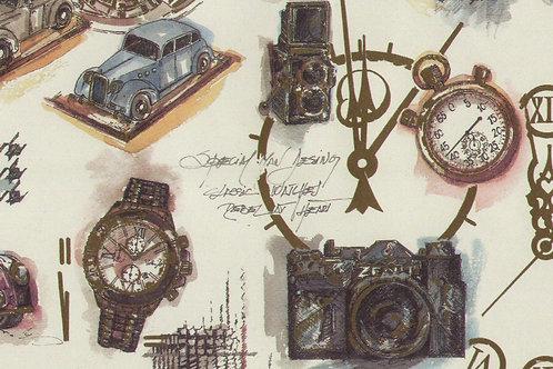 Carta con Oggetti da Collezione 50x70cm (cod.5808)