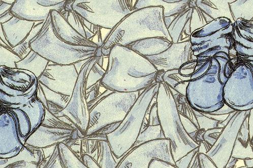 Carta con Scarpette Azzurre 50x70cm (cod. 1401)
