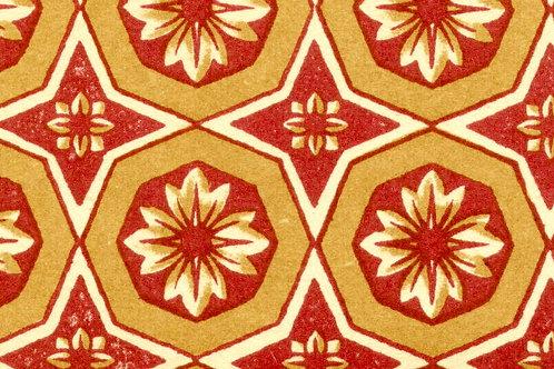 Carta Varese Disegni Geometrici Rosso e Giallo 50x70cm (cod. 0867)