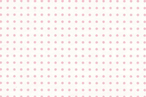 Carta con Puntini Rosa su Bianco 50x70cm (cod.6240)
