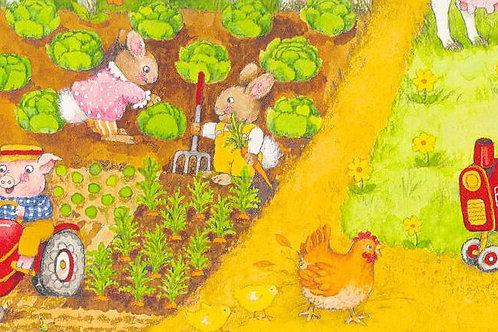 Carta con Animali Fattoria 50x70cm (cod.5803)