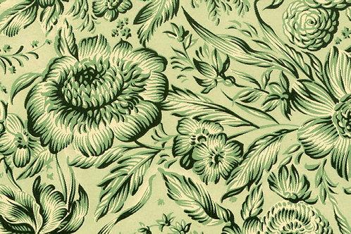 Carta Varese Fiorita Verde 50x70cm (cod. 0820)