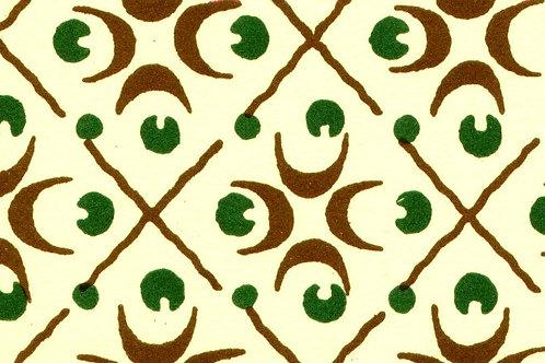 Carta Varese Disegni Geometrici Marone e Verde 50x70cm (cod. 0817)