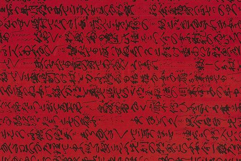 Carta con Scritte Sfondo Rosso 50x70cm (cod.7137)
