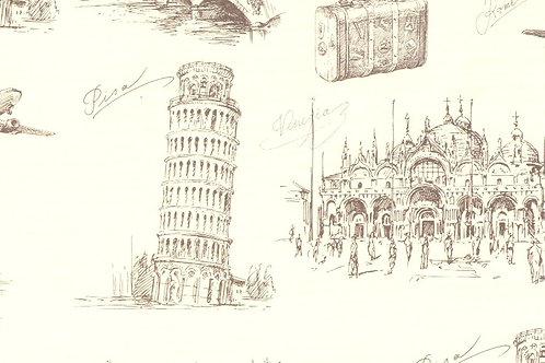 Carta Viaggi Pisa 50x70cm (cod.5862)