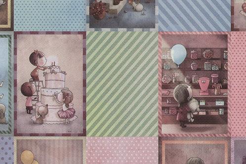 Carta con Bambini DIsegnati 50x70cm (cod.5224)