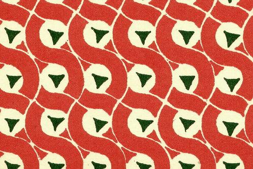 Carta Varese Disegni Geometrici Rosso 50x70cm (cod. 0135)