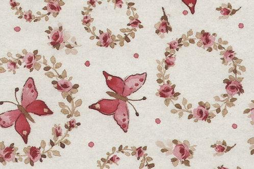 Carta Fiori e Farfalle Rosa 50x70cm (cod. 2055)