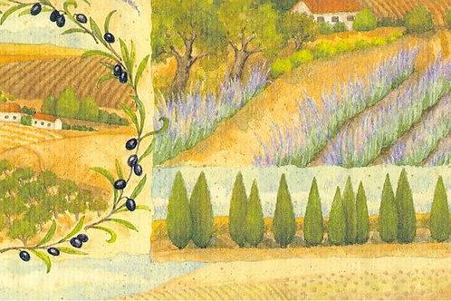 Carta con Campagna 50x70cm (cod. 1735)