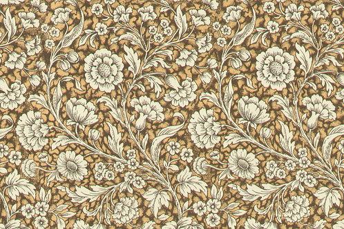 Carta Varese Fiorita Marrone chiaro 50x70cm (cod. 06467)