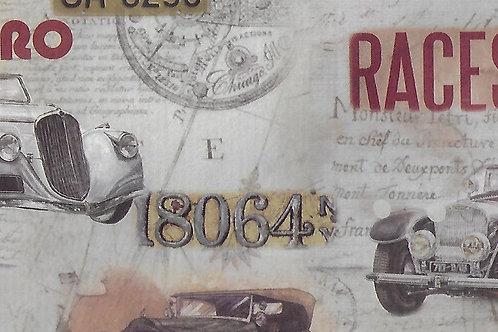 Carta con Automobili e Scritte 50x70cm (cod.2164)