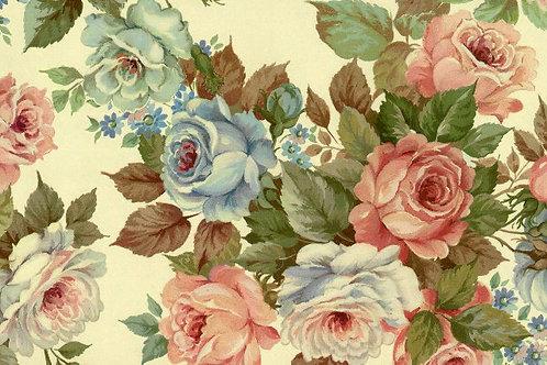 Carta Fiori RosaBlu Foglie Verdi 50x70cm (cod. 0232)