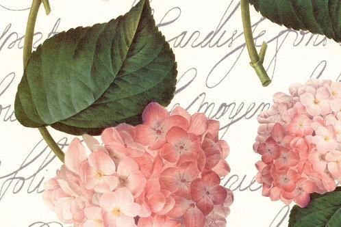Carta Fiori Rosa Foglie Verdi 50x70cm (cod. 043A)