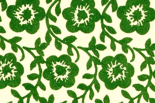Carta Varese Fiorata Verde 50x70cm (cod. 0028)